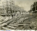 Railroad construction along Broad and Marietta Street, 1891