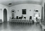 Banquet Hall, Wimbish Mansion, Peachtree Street, Atlanta, Georgia, March 31, 1981. The Mansion is...