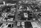 Lawrenceville Courthouse seen from aerial view, 1983