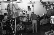Fox Theatre projection booth, 1975