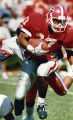 Georgia Bulldogs' Chuck Carswell runs the ball, 1991