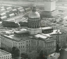 Aerial view of Georgia's State Capitol building,  Atlanta, Georgia, January 1973.