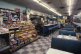 Plaza Drugs interior view of the diner and convenience store, 1980
