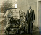 "Richard T. Jones, son of C. C. Jones, with the ""oldest bale of cotton,"" LaGrange, Troup..."