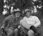 "Walter Brennan and Phil Harris on the set of ""Good-bye, My Lady,"" 1955"
