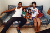 Atlanta Braves' Francisco Cabrera with his wife and children, 1993