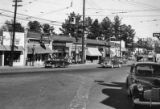 Shops along the commercial district of Brookhaven, 1949