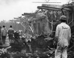 Explosion aftermath at Thiokol Chemical corporation, 1971