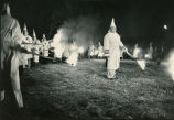 Nighttime Ku Klux Klan rally in Tuscumbia, Alabama, August 31, 1980.