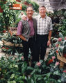 Home Depot co-founders Arthur Blank and Bernard Marcus at one of their stores' gardens, 1994