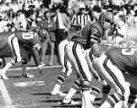 Atlanta Falcons' quarterback Pat Sullivan under center during a game, circa 1970s