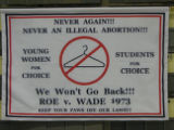 Never Again!!! Never an Illegal Abortion!!! [cloth banner], circa 2000s