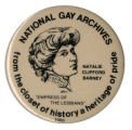 National Gay Archives from the closet of history a heritage of pride [button], 1980