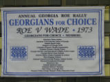 Annual Georgia Roe Rally [cloth banner], circa 2000s