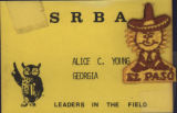 Southern Region Branch Association event [name tag], circa 1980s