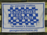 Georgians for Choice [cloth banner], circa 2000s
