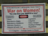 War on Women! [cloth banner], circa 2000s