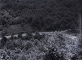 Winding scenic road near Vogel State Park, Union County, Georgia, circa late 1930s or early 1940s