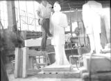 Statue carving studio at the Georgia Marble Company, Tate, Georgia, circa late 1930s or early 1940s