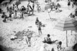 Families frolicking on the beach in Key West, June 1939
