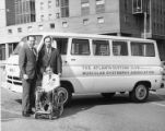 Don Kennedy with a Muscular Dystrophy Association van
