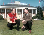 Vince Dooley and Phil Schaefer in front of White Columns
