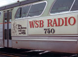 Bus advertisement for WSB Radio baseball coverage