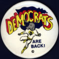 Democrats are Back! [button], circa 1970s