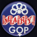 Mary GOP [button], circa 1980s