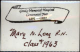 Grady Memorial Hospital Centennial Year [name badge], circa 1992