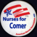 Nurses for Comer [button], circa 1980s