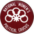 National Women's Political Caucus [button], circa 1980s