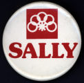 Sally [button], circa 1980s