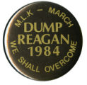 Dump Reagan [button], 1984