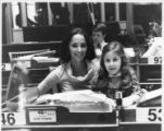 Cathey Steinberg seated with her daughter, Jill Steinberg, at her seat in the General Assembly,...