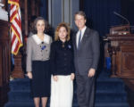 State Senator Cathey Steinberg, a page, and Lieutenant Governor Pierre Howard at the state...