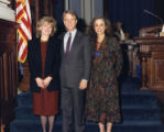Elaine Nachman, Lieutenant Governor Pierre Howard, and State Senator Cathy Steinberg at the state...