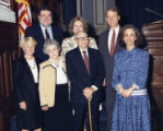Cathey Steinberg, Lieutenant Governor Pierre Howard, and Mary Margaret Oliver posing with a group,...