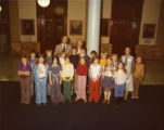 Governor George Busbee and Cathey Steinberg with school children, Atlanta, Georgia, late 1970s.