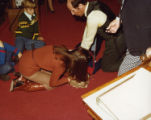Cathey Steinberg demonstrating CPR for the Georgia General Assembly at the state capitol, Atlanta,...