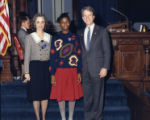 State Senator Cathey Steinberg a page, and Lieutenant Governor Pierre Howard at the state capitol,...