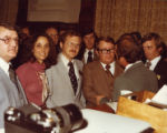 Cathey Steinberg with Four colleagues at the state capitol, Atlanta, Georgia, March 1978.