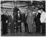 IAM officials and management of Eastern Air Lines at Engine Overhaul Shop in Miami, circa 1960s