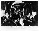 Passengers in the cabin of an Eastern Air Transport Curtiss Condor, circa early 1930s