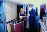 Slides (flight attendants, meals, airplanes, uniforms, and Frank Borman) [folder 2 of 2], circa...