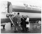 Carolyn Lee Wills and others boarding a flight for Miami, circa 1970s
