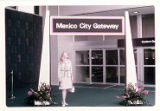 Carolyn Lee Wills standing at the Mexico City Gateway for Eastern Air Lines for its inaugural...