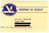 Eastern Airlines Retirees Association membership card, 2002