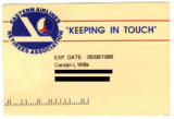 Eastern Airlines Retirees Association membership card, 1998