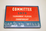 Carolyn Wills, Committee, 1974 Tournament Players Championship [name badge], 1974